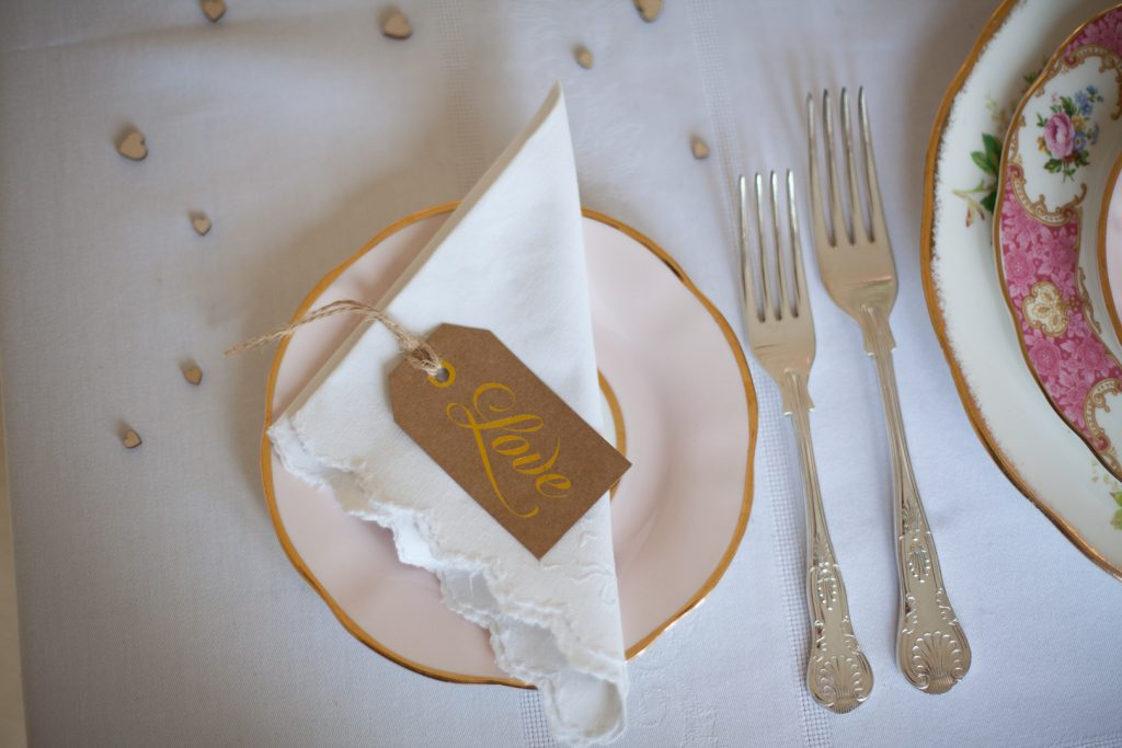 Wedding side plate