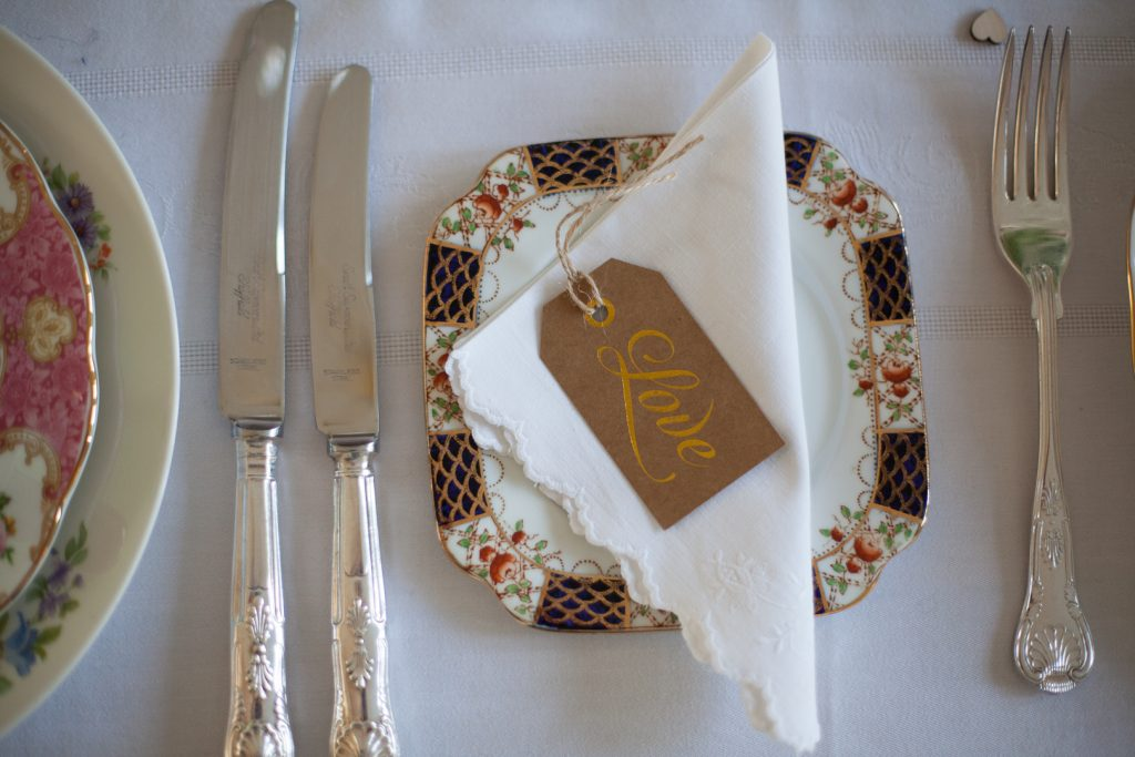Patterned wedding side plate