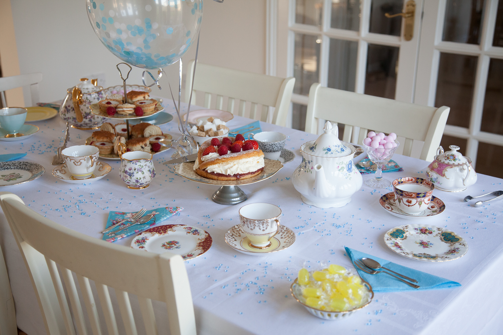 Vintage tea party hire for a baby shower