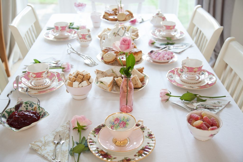 Pink themed tea party